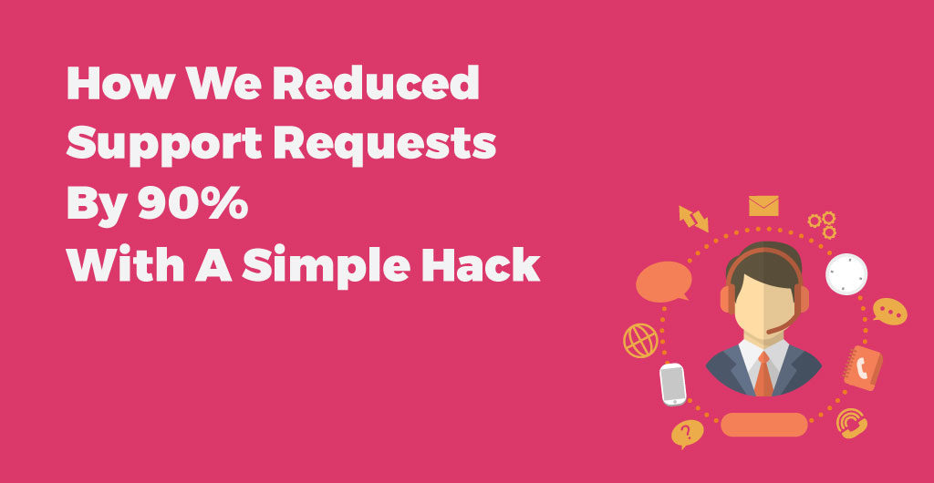 how we reduced support requests