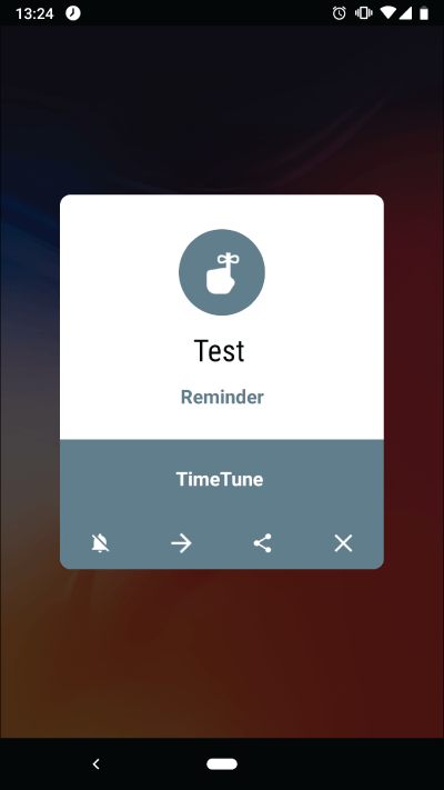 Pop-ups will appear as usual when the screen is off in TimeTune 2.6.4