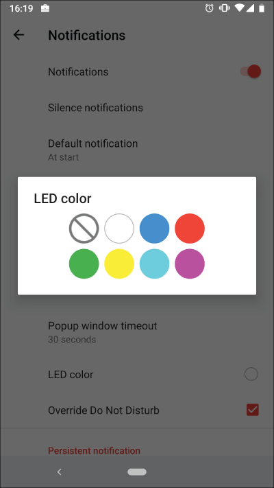 You can change the led color again in TimeTune 2.6.4